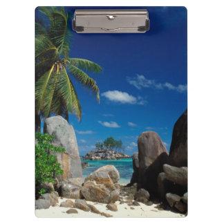 Seychelles, Mahe Island, Anse Royale Beach. Clipboard