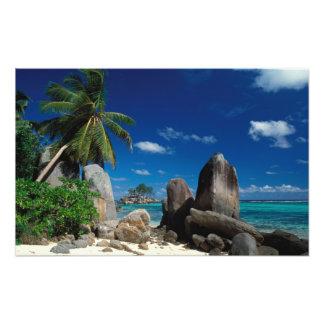 Seychelles, Mahe Island, Anse Royale Beach. Photo Print