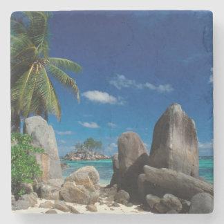 Seychelles, Mahe Island, Anse Royale Beach. Stone Coaster