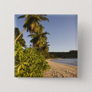 Seychelles, Mahe Island, Anse Takamaka beach, 15 Cm Square Badge
