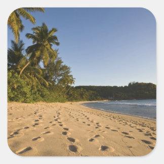 Seychelles, Mahe Island, Anse Takamaka beach, 2 Square Sticker