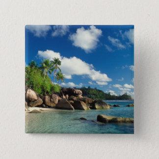 Seychelles, Mahe Island, Lazare Bay 15 Cm Square Badge