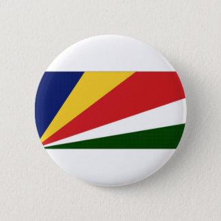 Seychelles National Flag 6 Cm Round Badge