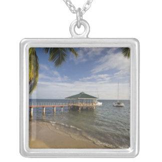 Seychelles, Praslin Island, Anse Bois de Rose, Square Pendant Necklace