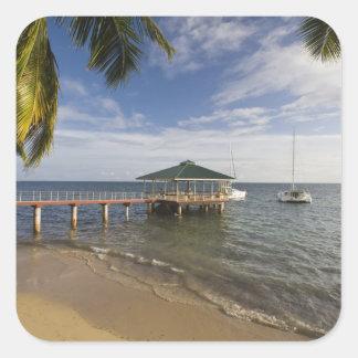 Seychelles, Praslin Island, Anse Bois de Rose, Square Sticker