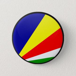 Seychelles quality Flag Circle 6 Cm Round Badge