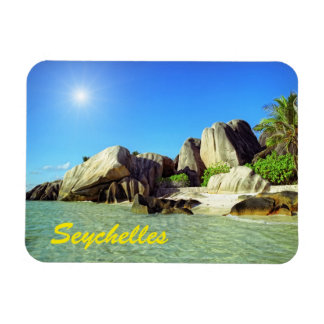 Seychelles Rectangular Photo Magnet