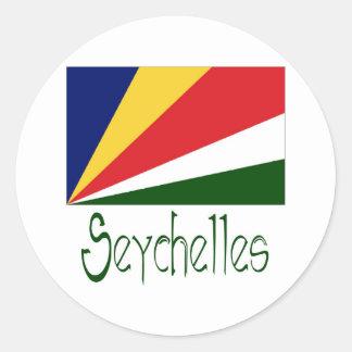 Seychelles Round Sticker