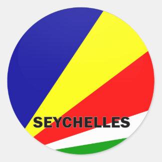 Seychelles Roundel quality Flag Round Sticker