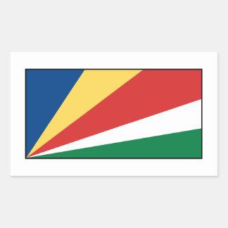 Seychelles Seychellois  Flag Rectangular Sticker