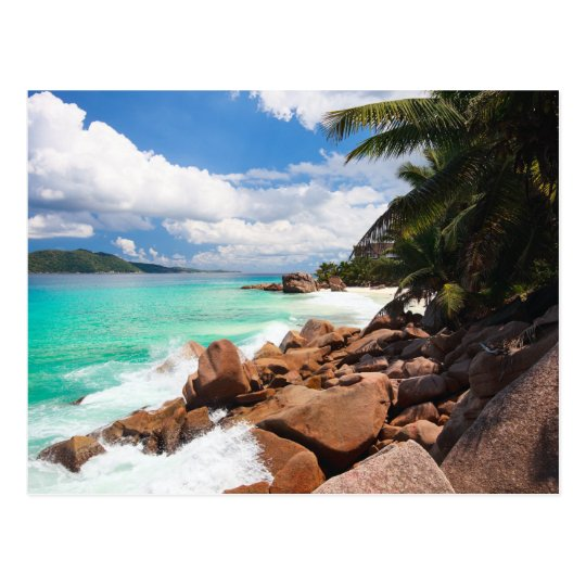 Seychelles. Stone's coastline Postcard
