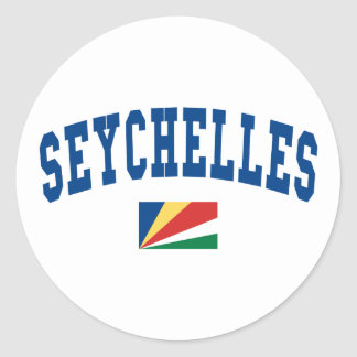 Seychelles Style Classic Round Sticker