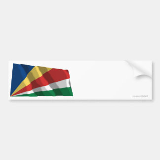 Seychelles Waving Flag Bumper Sticker