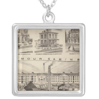 Seymour, Sabinand County, Minnesota Silver Plated Necklace