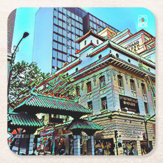 SF Chinatown Gate Square Coasters