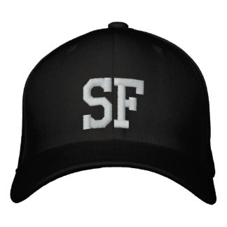 SF Custom Cap - Black and White Baseball Cap