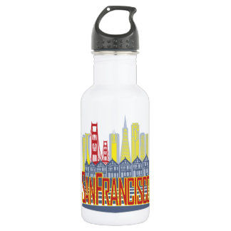 SF Golden Skyline 532 Ml Water Bottle