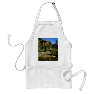 SF Japanese Tea Garden Temple Gate Adult Apron