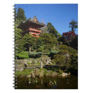 SF Japanese Tea Garden Temple Gate Notebook
