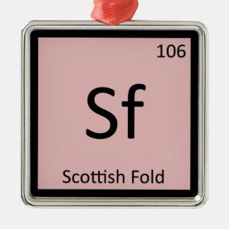 Sf - Scottish Fold Cat Chemistry Periodic Table Ornament