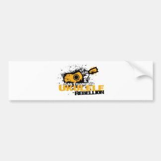 sf Ukulele Logo Bumper Sticker