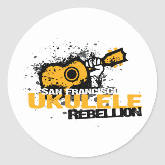 sf Ukulele Logo Classic Round Sticker