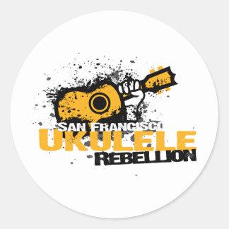 sf Ukulele Logo Round Sticker