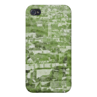 Sf Vintage Village green Cases For iPhone 4