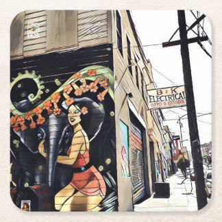 SF Woodward Mural Paper Coaster