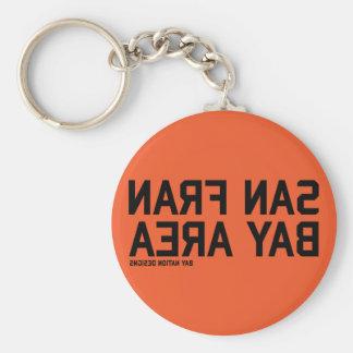 SFBA Black & Orange Basic Round Button Key Ring