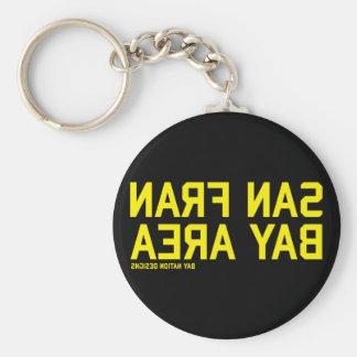 SFBA Black & Yellow Basic Round Button Key Ring