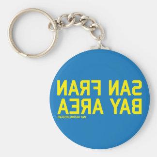 SFBA Blue & Yellow Basic Round Button Key Ring