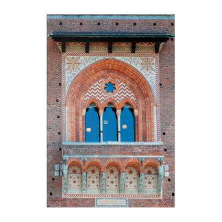 Sforza Castle window italy milan architecture land Acrylic Print