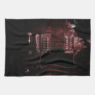 SG Guitar (Grunge) Hand Towels