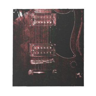 SG Guitar (Grunge) Notepad