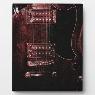 SG Guitar (Grunge) Photo Plaque