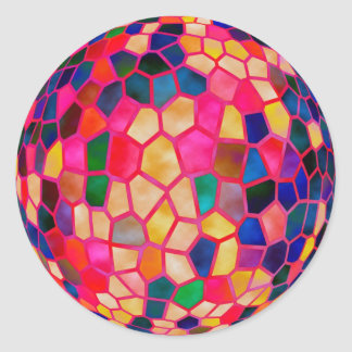 SG Light Red Glowing Crystal  Ball Classic Round Sticker