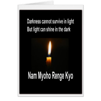 SGI Buddhist Encouraging Card - Light in Darkness