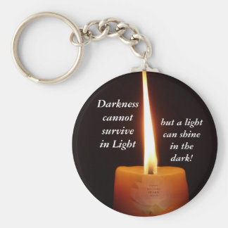 SGI Buddhist Key Chain - Lotus Candle and NMRK