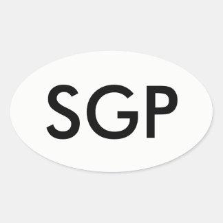 SGP Oval Sticker
