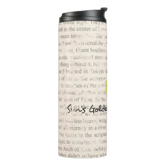 SGR-P Book Text Tumbler Wrap Thermal Tumbler