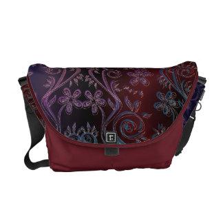 Sgraffito Floral Tapestry Rickshaw Messenger Bag