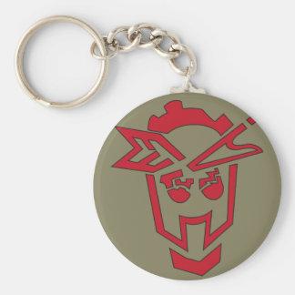 Sgt.STFU Industrial Stencil Glyph Basic Round Button Key Ring