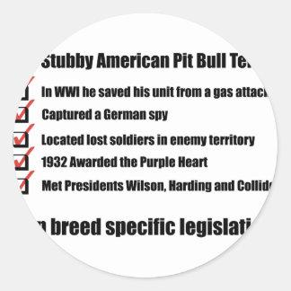 Sgt. Stubby -1 Round Sticker