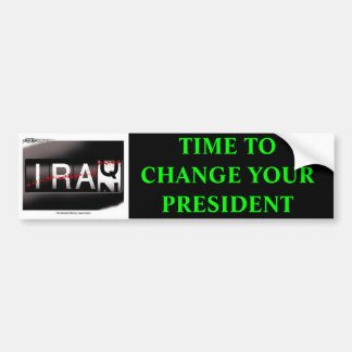 sh21407[1], TIME TO CHANGE YOUR PRESIDENT Bumper Sticker