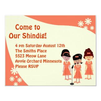 Sha La La A Girl Group Shindig Invitation Cards