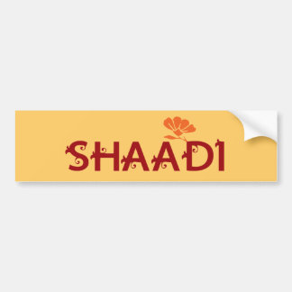 Shaadi Car Bumper Sticker