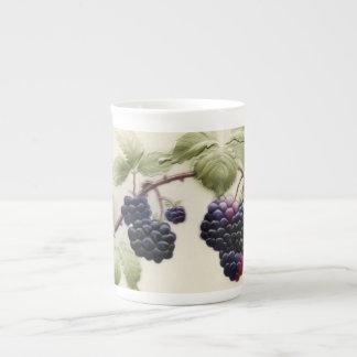Shab-tastic Vintage Blackberries Bone China Mug