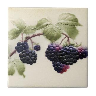 Shab-tastic Vintage Blackberries Ceramic Tile