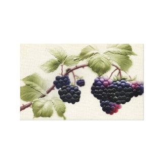 Shab-tastic Vintage Blackberry Wrapped Canvas